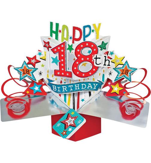 18 geburtstag Pop Up 3D Karte Weihnachten mit Schlitten und Rentier 18 geburtstag