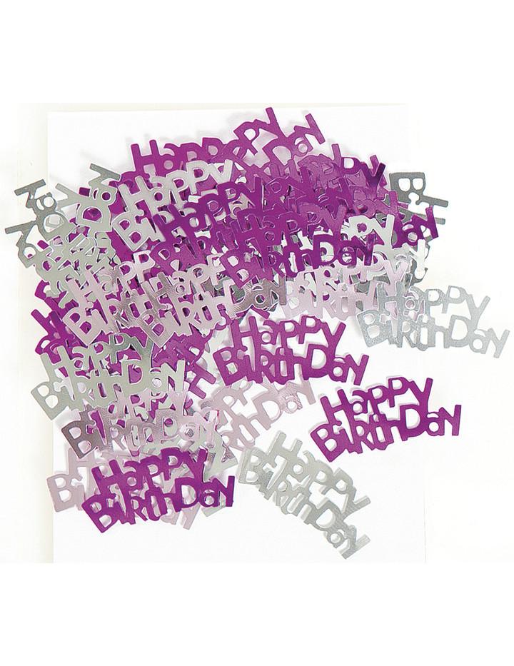 Deko konfetti geburtstag in pink 3 5 x 1 5 cm Deko 30 geburtstag pink