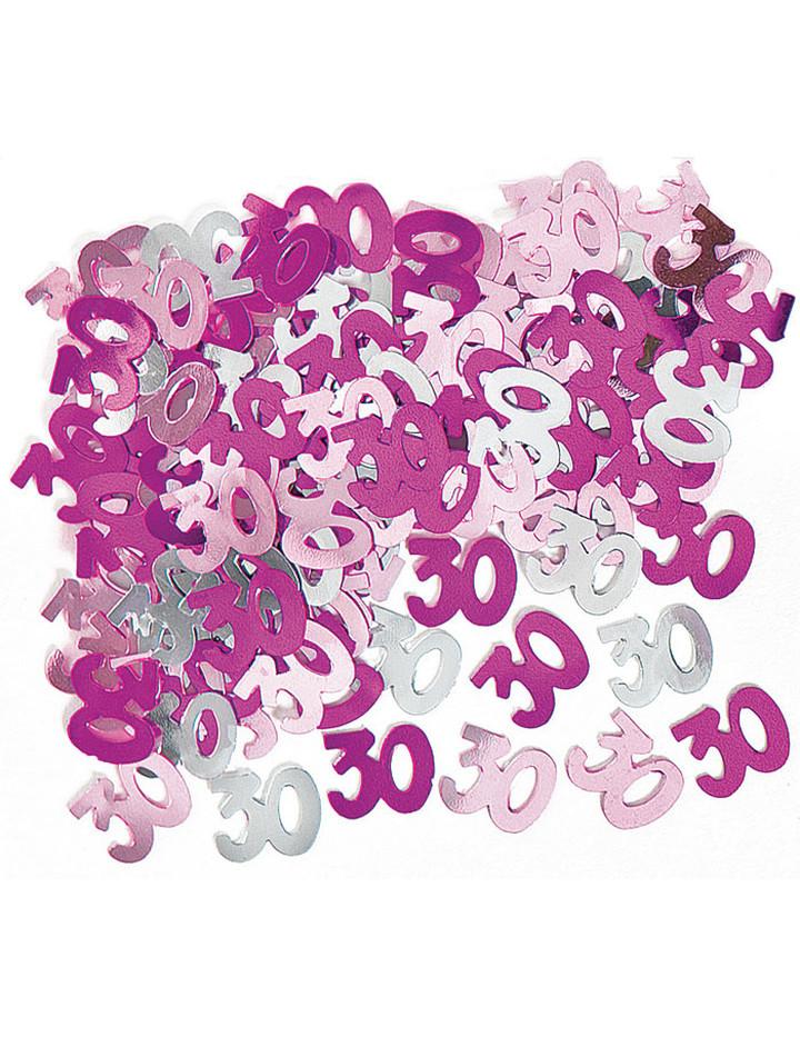 Deko Konfetti 30 Geburtstag In Pink 1 Cm O