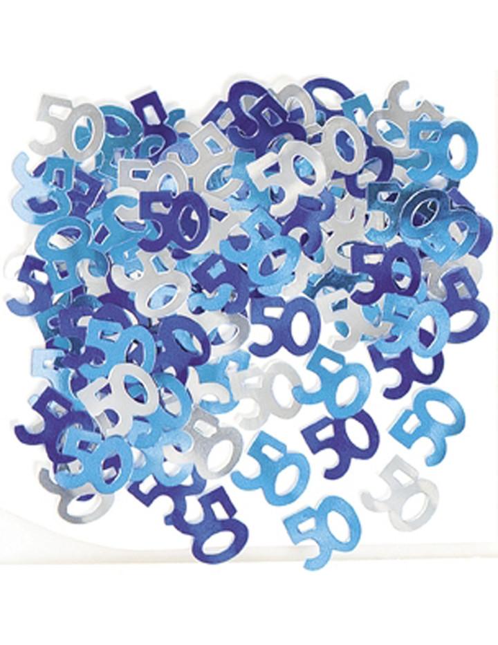 deko konfetti 50 geburtstag in blau 1 cm. Black Bedroom Furniture Sets. Home Design Ideas