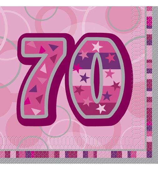 deko konfetti 70 geburtstag in pink 1 cm. Black Bedroom Furniture Sets. Home Design Ideas