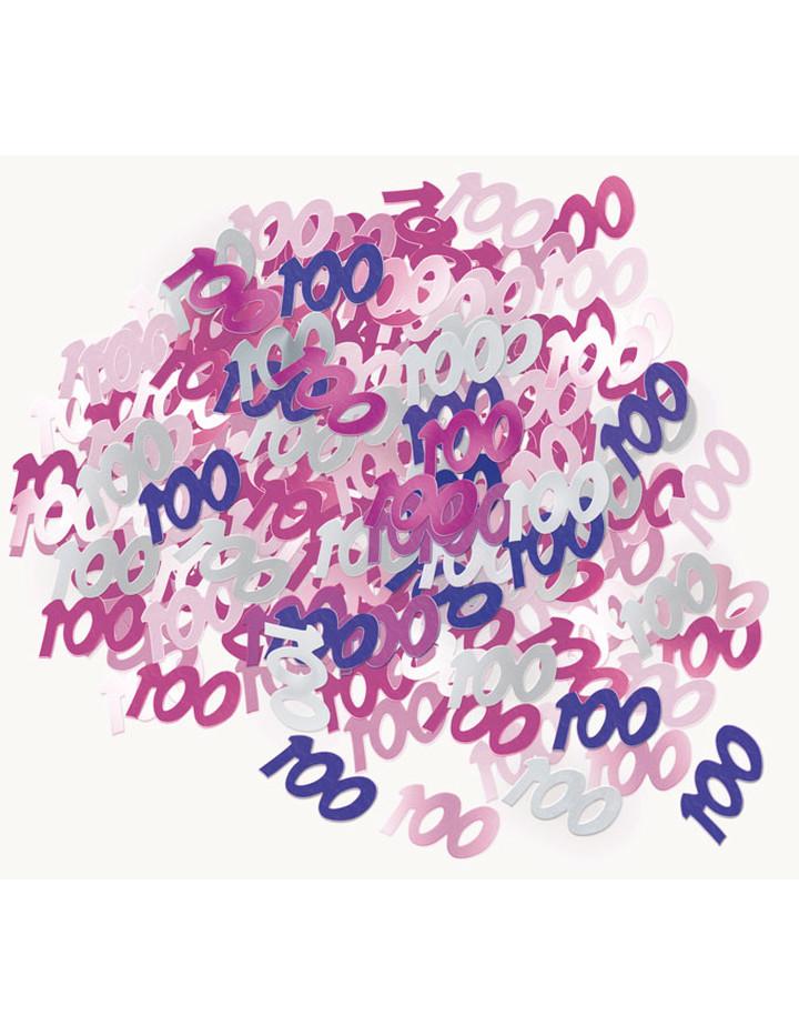 Deko konfetti 100 geburtstag in pink 1 cm Deko 30 geburtstag pink